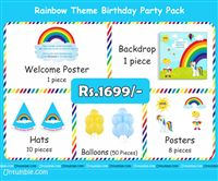 Rainbow theme Rainbow Theme Mini Party Pack