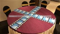 Rockstar Party theme Film Reel table runners