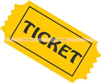 Rockstar Party theme Movie ticket cutout