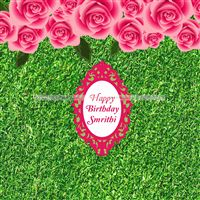 Rose Floral Supplies theme Pink Floral Birthday Backdrop