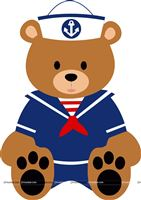 Sailor/Nautical theme Cute teddy Sailor cutout