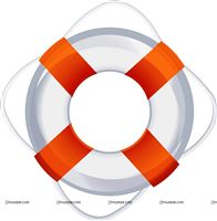 Sailor/Nautical theme Lifebuoy cutout
