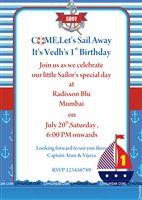 Sailor/Nautical theme Sailor Party Invite
