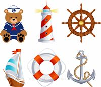 Sailor/Nautical theme Sailor Party Posters (Pack of 6 )