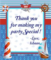 Thank you cards - Sailor/Nautical Theme Birthday Party