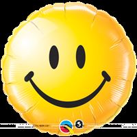 Smiley theme Smiley Round Foil Balloon