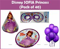 Sofia Princess theme  - Sofia Princess Party Kit (Pack of 40)