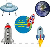 Space theme Posters pack of 5
