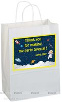 Stickered gift bags - Space theme birthday party supplies