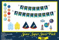Party kits - Space theme birthday party supplies