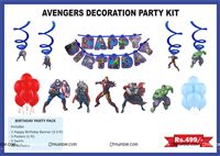 Superhero theme Avengers theme party decoration kit (Pack of 31 pcs)