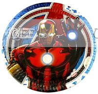 Superhero theme Iron Man Birthday Party Plate