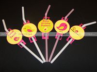 Straw toppers - Sweet Tweet Theme Birthday Party