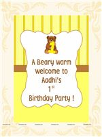 Teddy Bear theme Teddy Yellow Welcome Cutout