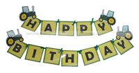 Tractor theme Happy Birthday Bunting