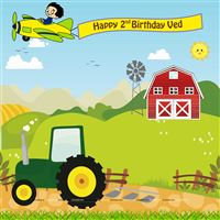 Tractor theme Backdrop
