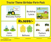 Mini Kit - Rs 1699 - Tractor theme party supplies