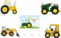 Posters pack of 5 - Tractor theme party supplies