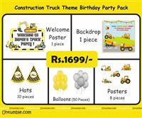 Construction theme - Construction Truck Theme Mini Party pack