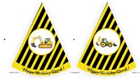 Trucks Birthday Party theme Truck Theme Hats