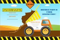 Construction theme Truck theme Invites