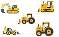 Construction theme Poster pack of 5