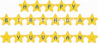 Little Star theme Star Shaped Birthday Banner/Bunting
