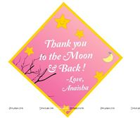 Little Star theme Pink Thank You card
