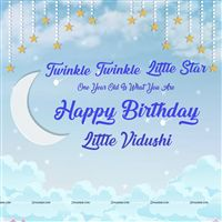 Little Star theme Twinkle Twinkle Blue star Backdrop
