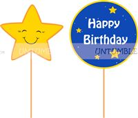 Little Star theme Cup Cake Toppers