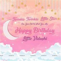 Little Star theme Twinkle Twinkle Pink star Backdrop