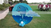 Underwater birthday theme Entrance cutout