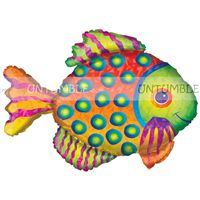 Underwater birthday theme Fish Foil Balloon