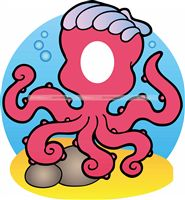 Underwater birthday theme Octopus Photo Booth