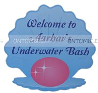 Underwater birthday theme Welcome banner