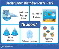 Underwater birthday theme Under Water Theme Mini Party Pack