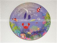 Underwater birthday theme Underwater Paper Plates (Pack of 10)