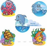 Underwater birthday theme Underwater Poster pack of 5