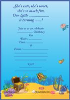 Underwater birthday theme Underwater Theme Invite