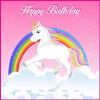 Unicorn theme - Rainbow Unicorn Birthday Banner