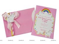 Unicorn theme GIrls Pink Invitations