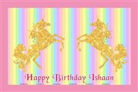 Placemats - Unicorn themed birthday party supplies & decorations