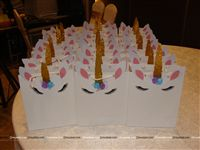 Stickered gift bags - Unicorn themed birthday party supplies & decorations