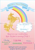 Unicorn theme - Unicorn Invitations