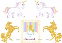 Unicorn theme - Unicorn poster pack of 5