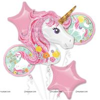 Unicorn Theme Foil Balloon Bouquet Pack