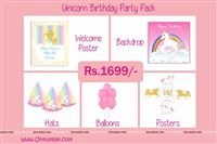 Unicorn theme - Unicorn Theme Mini Party Pack