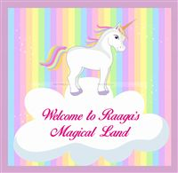 Welcome Message Board - Unicorn theme