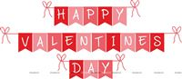 Love theme Happy Valentine Bunting