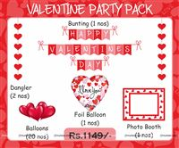 Love theme  - Valentine-Love Party Kit ( 25 piece decoration kit)
